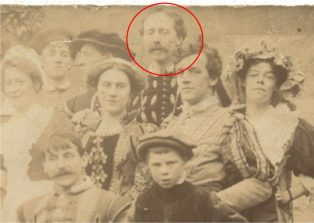 C R Ashbee (circled) in Guild production of 'The Shoemaker's Holiday'