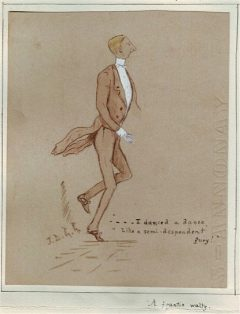 Josie Griffiths cartoon of man dancing