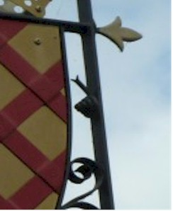 close up of snail on sign