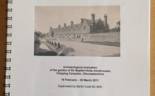 Archaeological evaluation of the garden of Sir Baptist Hicks Almshouses
