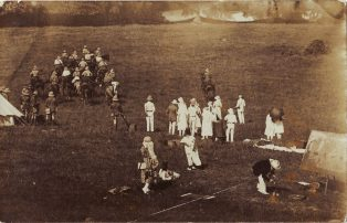 1921 Fete in aid of War Memorial - six photographs