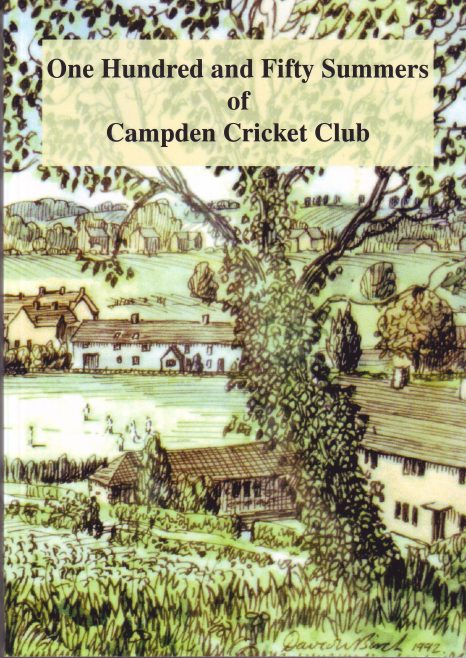Book cover with drawing of cricket ground