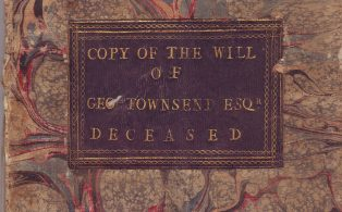 George Townsend Charity - copy of will and papers