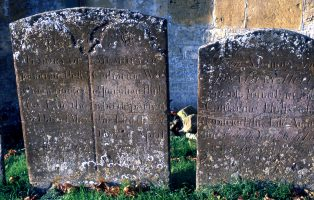 Two old gravestones