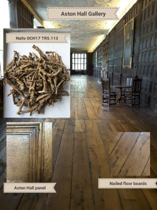 Long Gallery at Aston Hall, with nails from Campden House