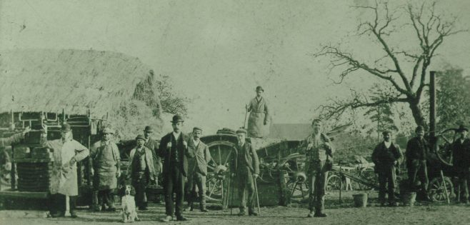 old photograph showing men cidermaking | Fred Coldicott