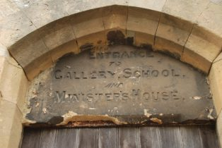 Baptist chapel inscription over doorway of the Baptist Church