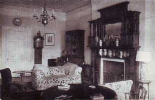 Interior of Bedfont House c. 1900
