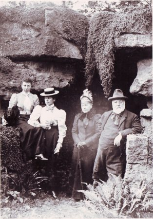 William Higford Griffiths with l-r. daughters Josie and Lola, and wife Ellen