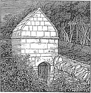 Etching of The Conduit House on Westington Hill