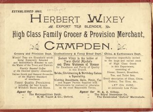 Wixey advert c. 1910