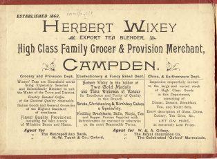 Wixey advert c. 1910