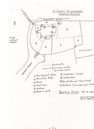 St James Graveyard Plan