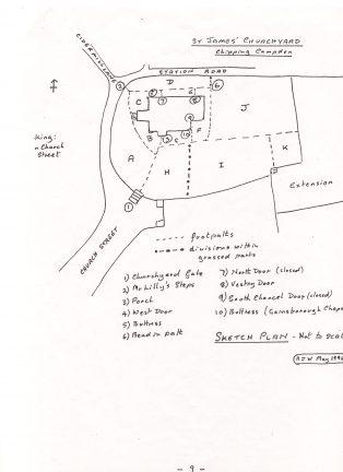 St James Graveyard Plan