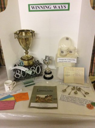 Display of trophies won by Ebrington W.I. in competitions | Pearl Mitchell