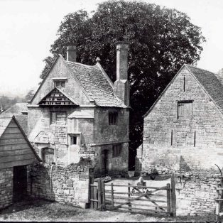 The 'Almonry' and outbuildings.
