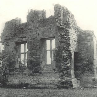 The remains of the house