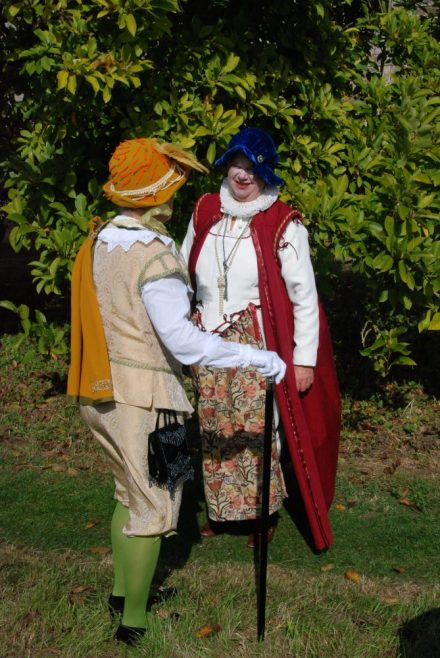 Lady Hicks and Sir Paul Pindar chat at the Open Day