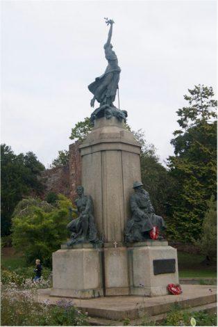 Exeter War memorial, Rougemont Gardens