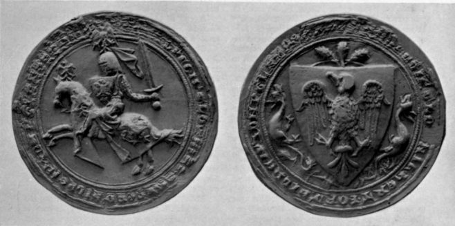 The seal of Ralph de Monthermer, Earl of Gloucester, Hertford, and Atholl (c. 1270 – 5 April 1325)