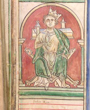 manuscript painting of King John
