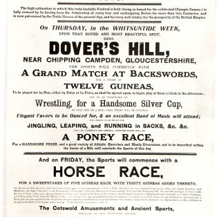 poster for Dovers Meeting 1818