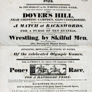 Advert for Dovers Meeting 1822