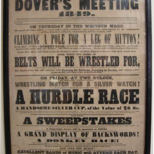 Dovers Meeting 1822
