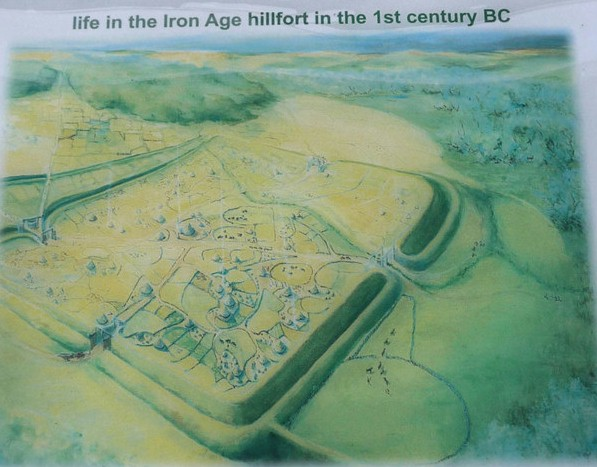 Representation of Salmonsbury Hill Fort