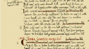 The entry in the Domesday Book for Campden   Domesday Book images kindly made available by Professor J.J.N. Palmer and George Slater. Creative Commons BY-SA licence.