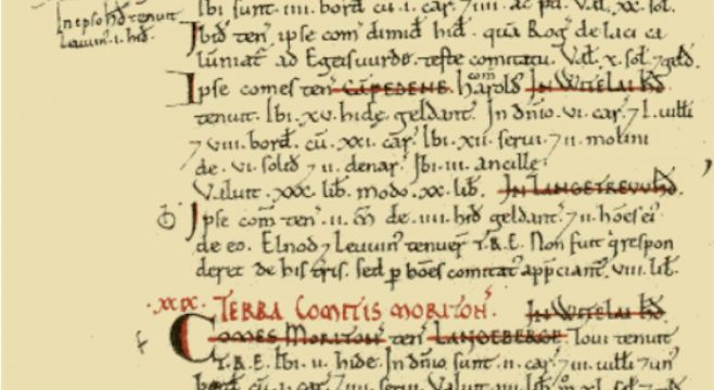 The entry in the Domesday Book for Campden
