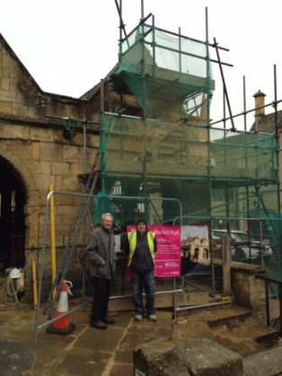 Rob Grove and Andrew Lintern in front of the renovated Market Hall