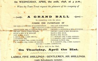The Re-opening of the Town Hall and Grand Ball 1898