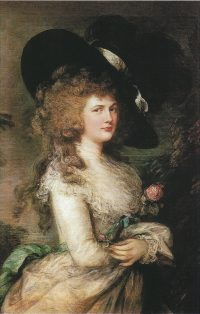 portrait of Georgiana, Duchess of Devonshire by Thomas Gainsborough