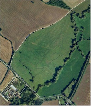 Aerial photograph of the Upper Ditchford site