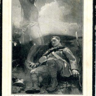 Harold Ashwin Memorial card, front
