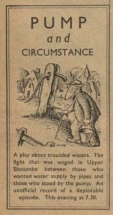 Radio Times advertisement for 'Pump and Circumstance', September 1938