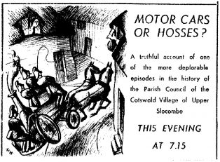 1937 Radio Times advertisement for 'Motor Cars or Hosses?'
