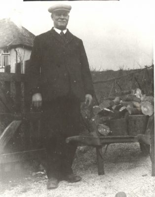 Sgt P Loveday (Ret) on his allotment