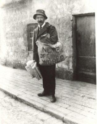Bob Dickenson, newspaper seller