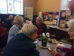 The display at the Members' Coffee Morning showed how the history of Park Road was being uncovered.