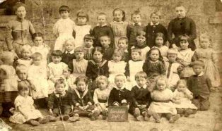 Infant class with two teachers c.1900