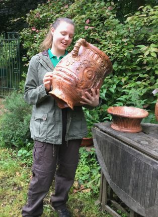 Pot discovered at Hanwell and restored