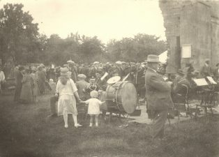 Fete in the orchard around old Campden House 1920s