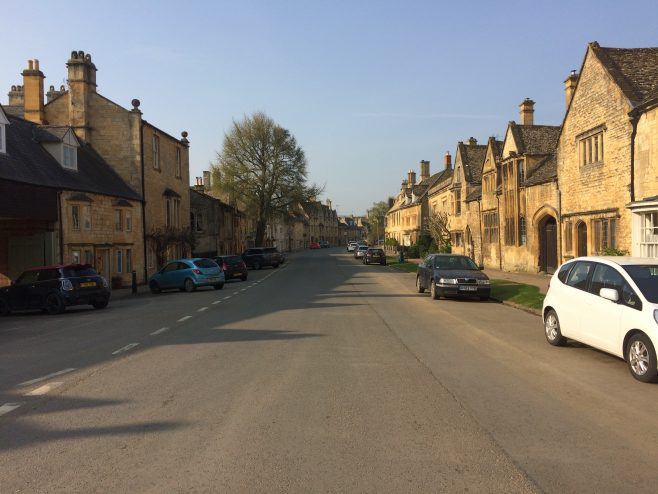 Campden High Street at 9.20 on 9th April 2020. No traffic!!