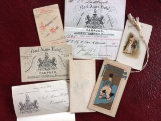 Ephemera from The Noel Arms Hotel