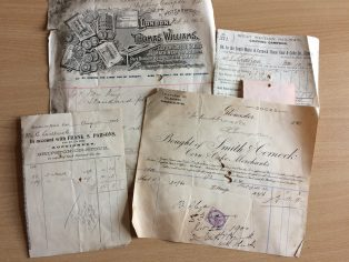 Invoices to Ladbrooks from around the country