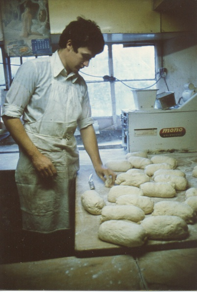 Baking with dough for bread