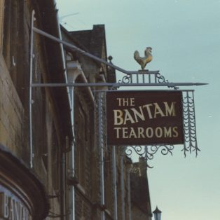 Bantam Tearooms sign