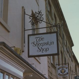 Sheepskin Shop sign | Mary Fielding